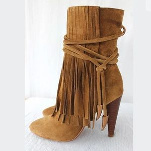 Ash English Tan Sz 7 Oiled Suede Boots